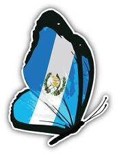 Guatemala Flag Butterfly Car Bumper Sticker Decal 4'' x 5''