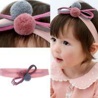 Cute Baby Girls Bow Headband Soft Elastic Ball Headwear Girl Hair Accessories