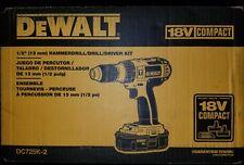 "Dewalt 18V 1/2"" Hammerdrill/Drill/Driver Kit DC725K-2"