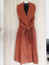 STUNNING RIVER ISLAND RUST LONG WAISTCOAT WITH BELT SIZE UK 8 (10 12)