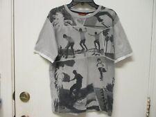 Gray Real Photo Skateboarding Tee Shirt Union Bay Boys Size Large