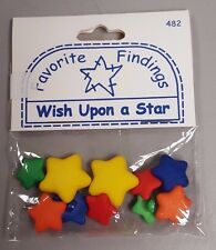 Favorite Findings Stars Assorted Colors - 10 Wish Upon a Star Buttons