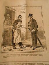 Caricature 1873 - Appartement à louer 2000 fs par an pas de chien pas d'enfants