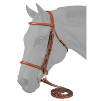 EquiRoyal Premium Raised Snaffle English Bridle w/ Laced Reins Horse Tack