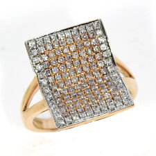0.72ct Natural Fancy Pink Diamonds Engagement Ring 18K Solid Gold 6G Rounds