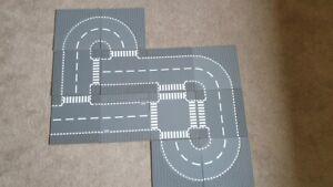 "Lego dunkelgraue Straßenplatten 12 Stück ""neuwertig"""