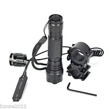 WF-501B Tactical Flashlight Torch 1000LM Remote Pressure Switch Shotgun Rifle