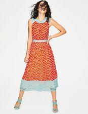 BODEN  NWT Sylvie Midi Dress - Orange/Aqua - UK 10 R - W0161