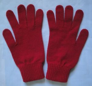BURBERRY Gloves for Women. Size Small. VGC. Red. Merino Wool and Cashmere. B2