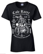 Cafe Racer T-Shirt Womens Ladies retro bike biker motorcycle