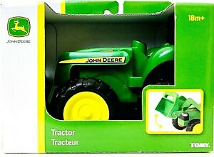 1 Count Tomy John Deere Tractor With Working Scoop Age 18 Months & Up