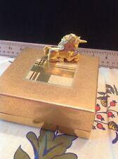 Estee Lauder 2001 Solid perfume compact mint in box Magical Unicorn Pleasures