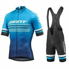 Men New 2019 Cycling Jersey Bib Shorts Set Summer Bike Uniform Outdoor Sportwear