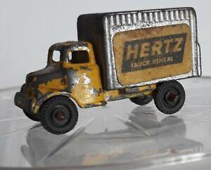 hertz truck rental vintage Barclay diecast toy yellow cab 1950/1960 (MB)