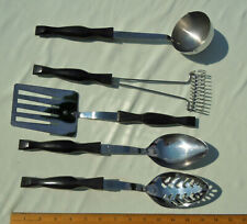 CUTCO Set of 5 Utensils Slotted Spoon Basting Spoon Ladle Spatula Whisk USA made