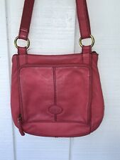 Leather Pink Fossil Crossbody Purse