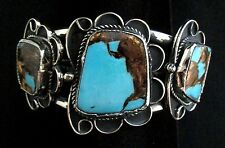 Navajo Silver and Turquoise Imperial Jasper Bracelet/Cuff Native American *838