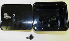 Valterra BLACK Gravity City Water Inlet Fill Dish Hatch Lock RV Trailer Lockable