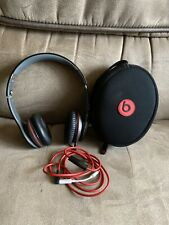 Beats by Dr. Dre Solo HD Over Ear Headphones - Black w/ Case and Apple Adapter