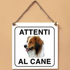 Kooikerhondje 2 Attenti al cane Targa cane cartello ceramic tiles