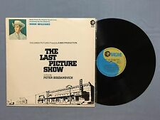 THE LAST PICTURE SHOW SOUNDTRACK HANK WILLIAMS 1972 AUSTRALIAN RELEASE LP