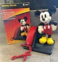 1991 Vintage AT&T Collectible Mickey Mouse Push-Button Operational Phone w/ Box