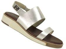 Matt Bernson Women's Moderna Flatbed Sandals Silver Size 11 M