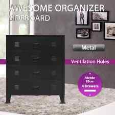 vidaXL Sideboard Chest of Drawers Industrial Style Metal Black Storage Unit