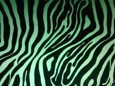 Polyester Fabric Animal Print Black / Lime Zebra - 50cm x 150cm - New by Dcf