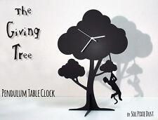 The Giving Tree - Boy climbing on tree - Silhouette Pendulum Table Clock