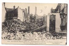 bombardement de reims , les ruines , boulevard lundi