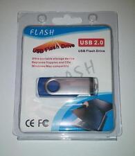 512GB USB 2.0 Flash Drive Disk Memory Pen Stick Thumb Key Storage Swivel Blue A4