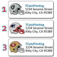 30 NFL Return Address Labels Any Football Team Personalized