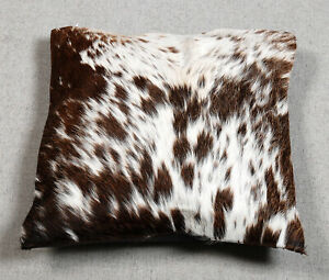 NEW COW HIDE LEATHER​ CUSHION COVER RUG COW SKIN Cushion Pillow Covers C-4384