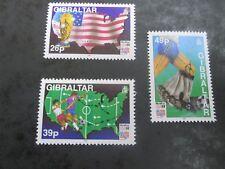 GIBRALTAR 1994 World Cup Football SG 721-723 MNH