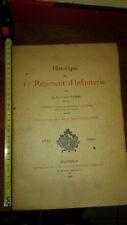 HISTORIQUE  du  11° REGIMENT D'INFANTERIE  par le lieutenant VASSAL.1635 / 1900