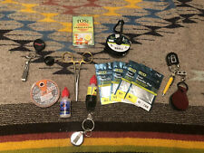 Lot Trout Fly Fishing Gear, Tools Assortment, Nippers, Pliers, Floatant