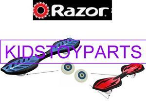 Razor Rip Stick Rear Wheels - 2 pack White Wheels with Black Rims