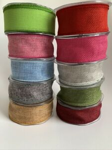 Country Wired Hessian Burlap Jute Ribbon 38MM Bow Making Gift Wrap Christmas