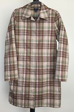 NWOT Gap size M plaid trench style raincoat 2 front pockets lightweight $78