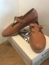Rockport Buckle Flats Brown Leather Shoes W2895 Heidi New Womens Size 6-1/2M