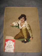 John Dritz Pre Worked Luxury Needlepoint Vintage Boy Yarn Canvas Tapestry NOS