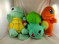 Pokemon Character Plush Lot Toy Factory Charizard Squirtle Bulbasaur