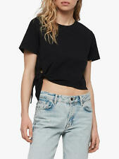 All Saints Small 8 10 12 T-shirt Tee Top Black Knot Twist Casual NWT RRP £32