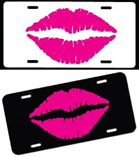 Hot lips car tag plate free name kiss girly makeup lip stick teen Kisses love