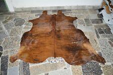BRINDLE EXOTIC-  Rug HAIR ON SKIN  Leather cowhide 4373-   72'' x  64''