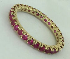 Full Eternity Ring Band size N R122- Genuine 9K Solid Gold Natural Ruby