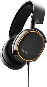 🔥 NEW SteelSeries Arctis 5 Surround Sound RGB Gaming Headset Black 61504 PC PS4