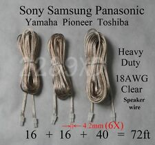 6 speaker cable/wires 4.2mm 72ft 18AWG made for select sony/samsung/Panasonic HT
