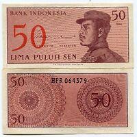 Indonesia 1964 UNC/XF Banknote 50 Sen P94a Paper Money